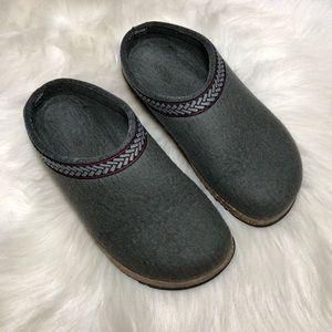 LL Bean Women's Grey Wool Clogs